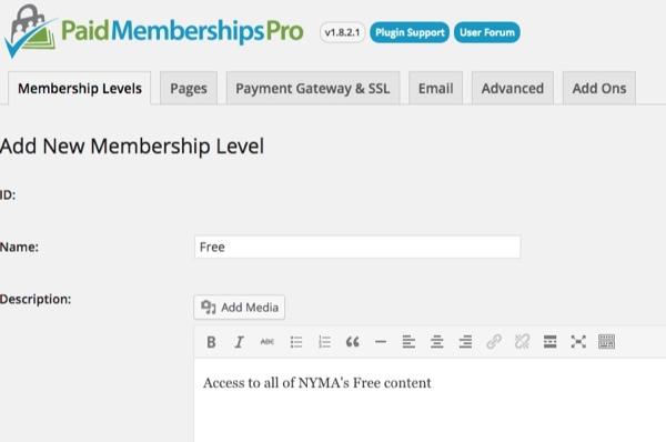 Wordpress Membership Plugin Paid Memberships Pro thedavebraun 5