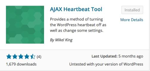 ajax heartbeat tool list of wordpress plugins thedavebraun