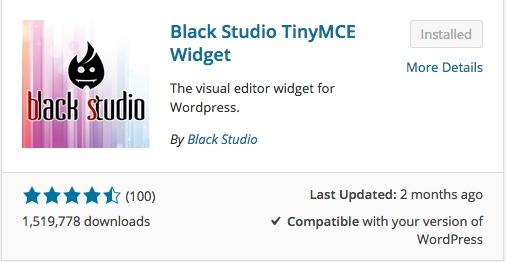 blackstudio tinymce widget list of wordpress plugins thedavebraun