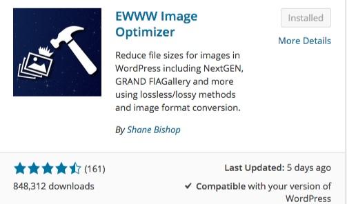 ewww image optimizer list of wordpress plugins thedavebraun