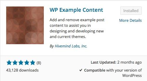 wp example content list of wordpress plugins thedavebraun