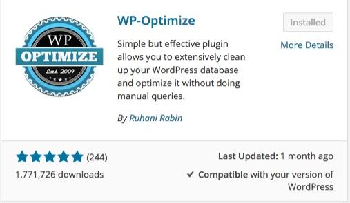 wp optimize list of wordpress plugins thedavebraun