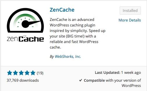 zencache list of wordpress plugins thedavebraun
