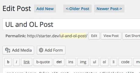 wordpress navigation admin post nav thedavebraun