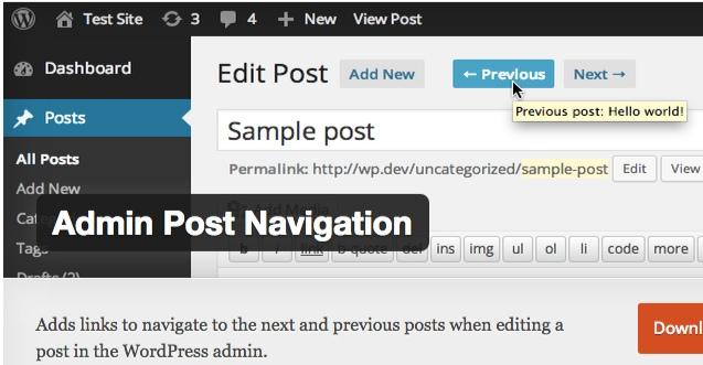 wordpress navigation admin post nav2 thedavebraun