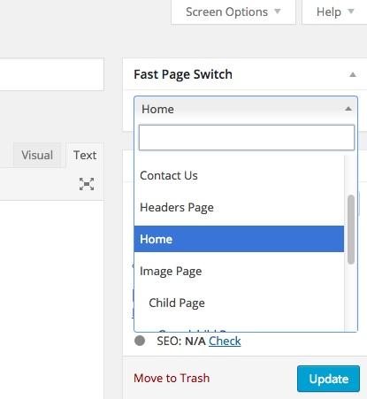 wordpress navigation fast page switch thedavebraun