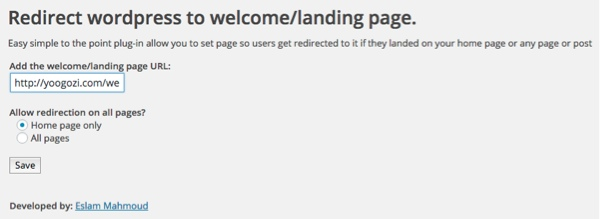welcome gate configuring redirect to welcome or landing page plugin thedavebraun